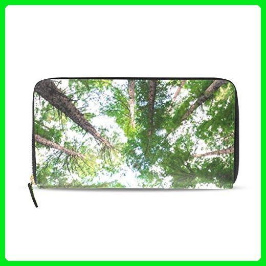 Womens Forest Sky Sunlight Pattern Long Wallet & Purse Case Card Holder - Wallets (*Amazon Partner-Link)