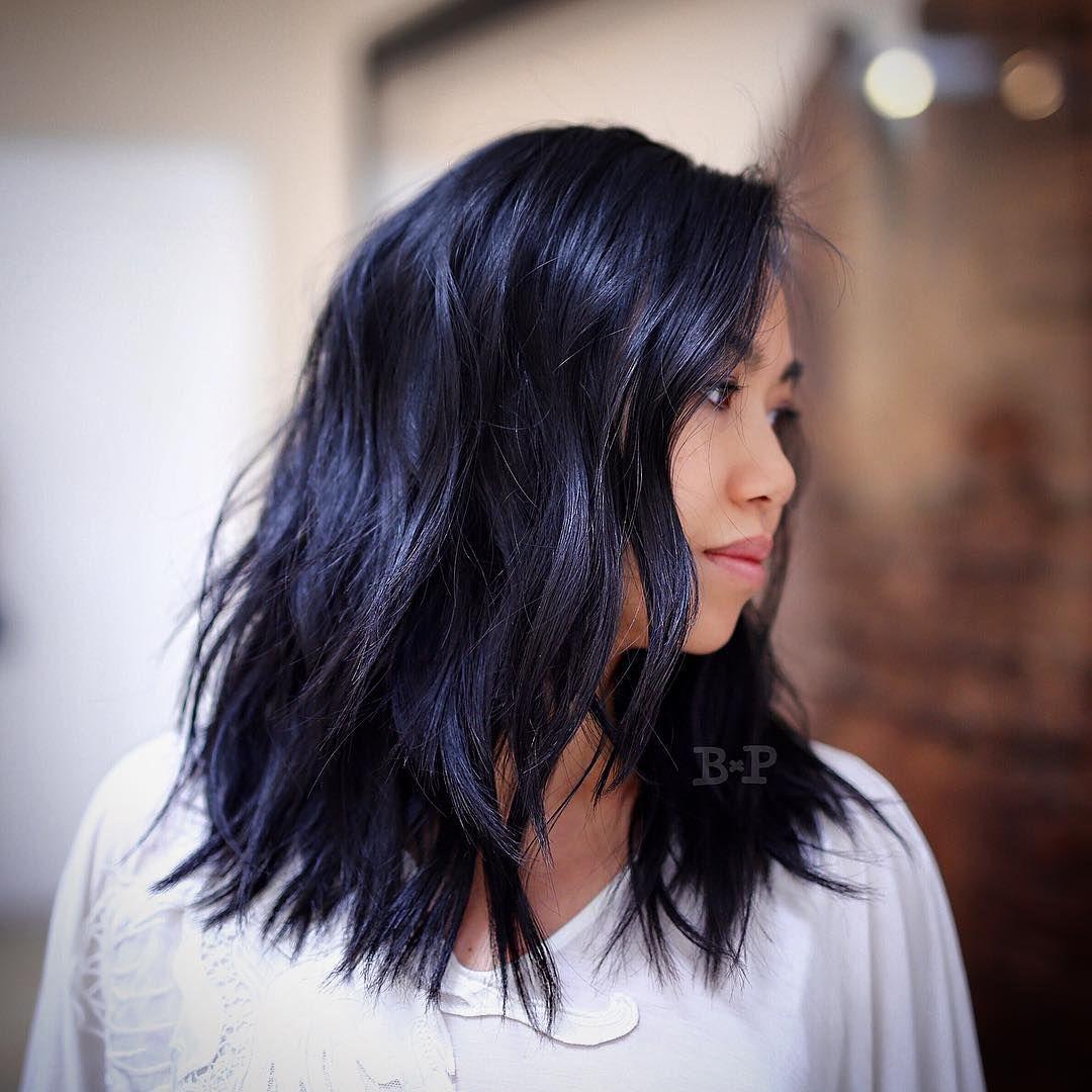 33 Stunning Hairstyles For Black Hair 2018 Medium Length Hair With Layers Medium Hair Styles Hair Color For Black Hair