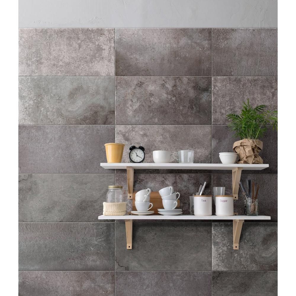 Badezimmerdesigns 8 x 6 stone silver porcelain tile   x     floor and decor