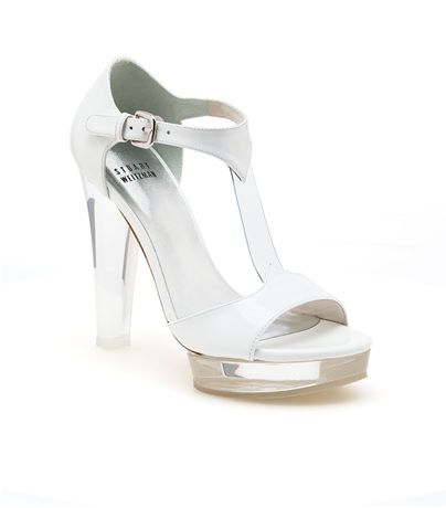 "Whoa... I thought to have an acrylic heel, it meant ""stripper shoe"" but this shoe looks very classy! Like its a half-glass slipper!"