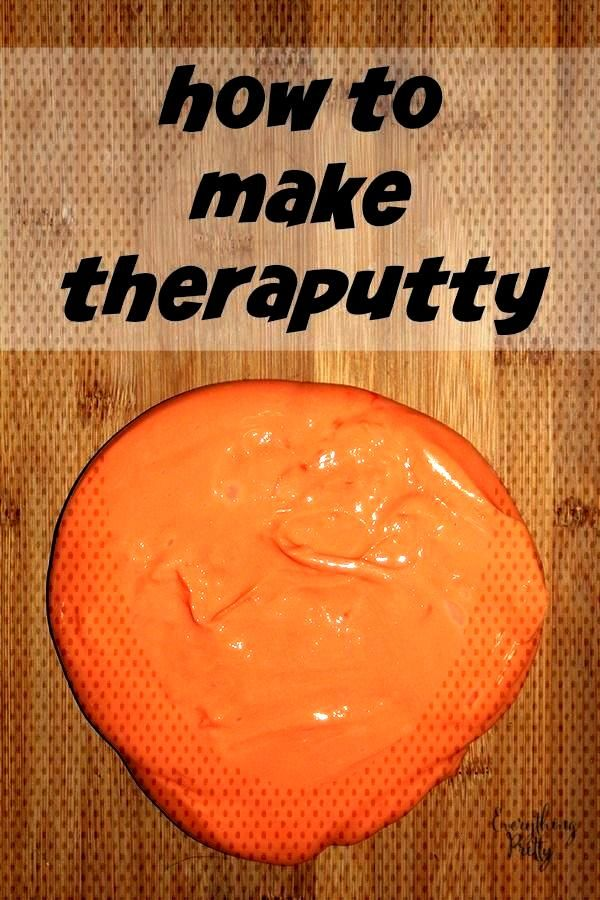 How to make theraputty for occupational therapy to improve fine motor skills and hand strength.