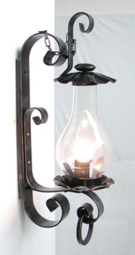 Plafoniere Da Esterno In Ferro Battuto.Lanterna Lampada Applique Plafoniera In Ferro Battuto Trento