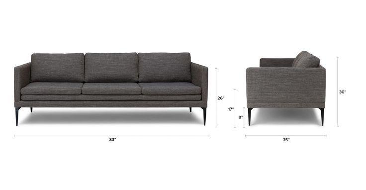Dark Gray Sofa With Metal Legs Chaiselongue Sofa Sofa Design Und Dunkelgraues Sofa