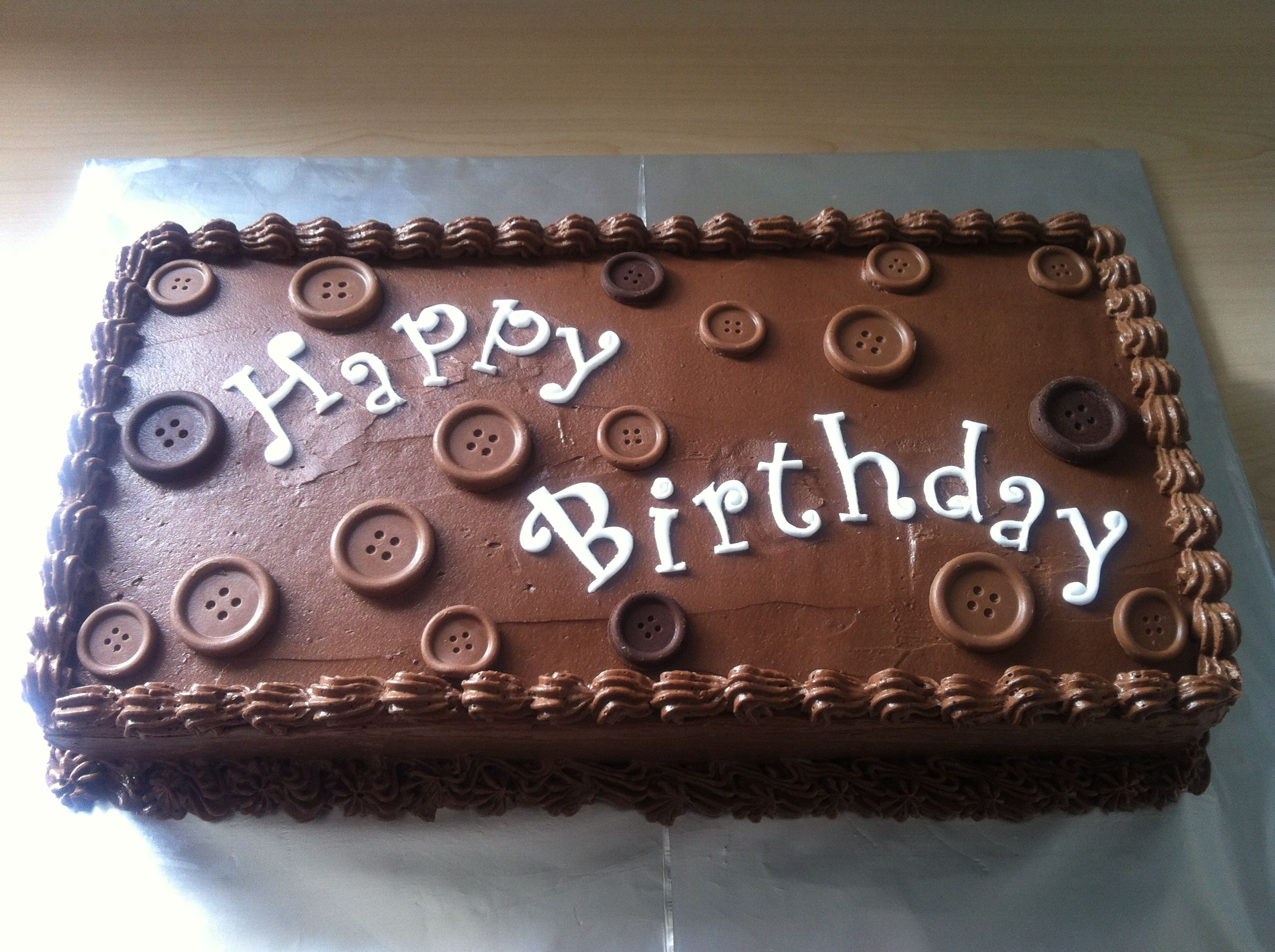 Easy Option For Square Birthday Cake Birthday Cake Chocolate