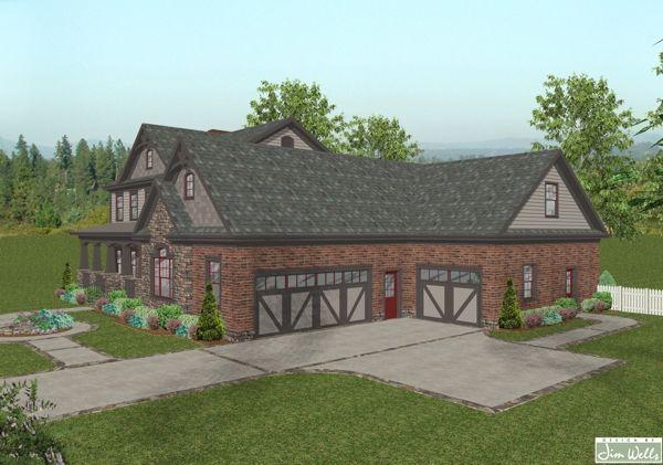 House Plan Featuring A Split 3 Car Garage Home Design Craftsman Style House Plans Craftsman House House Plans