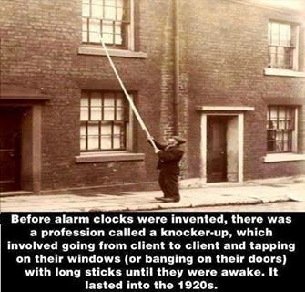 Knocker-up alarm clocks1900s