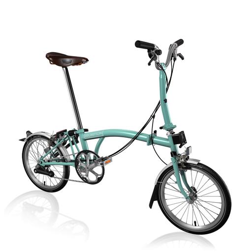 Brompton M6l Folding Bike Turkish Green 2017 Bike Brompton