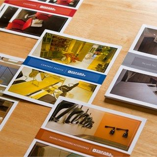 Multiple Large Photo BiFold Brochure Set Cover Square Format