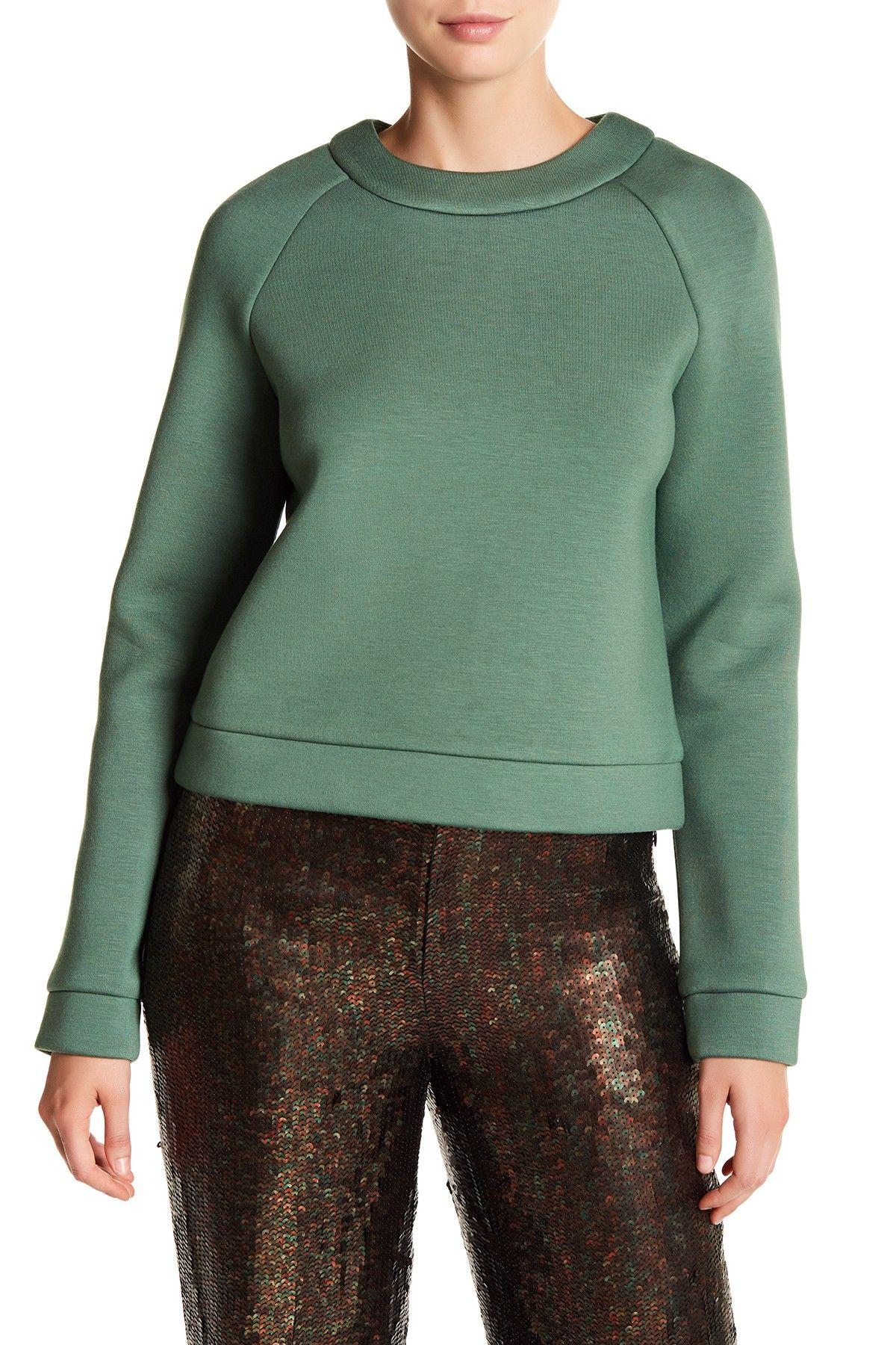 Tibi Marisol Neoprene Sweatshirt Sweatshirts, Ross
