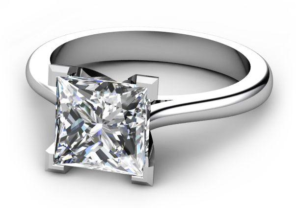 corner set square princess cut Wedding Rings Pinterest Sydney
