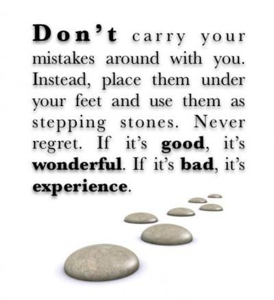 Stepping Stones Mistake Quotes Inspirational Words Regrets