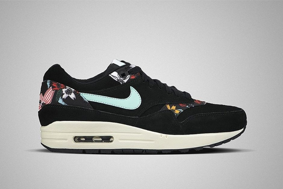 watch a54a7 d9c7a nike air max 1 aloha black Nike Womens Air Max 1 Aloha Pack