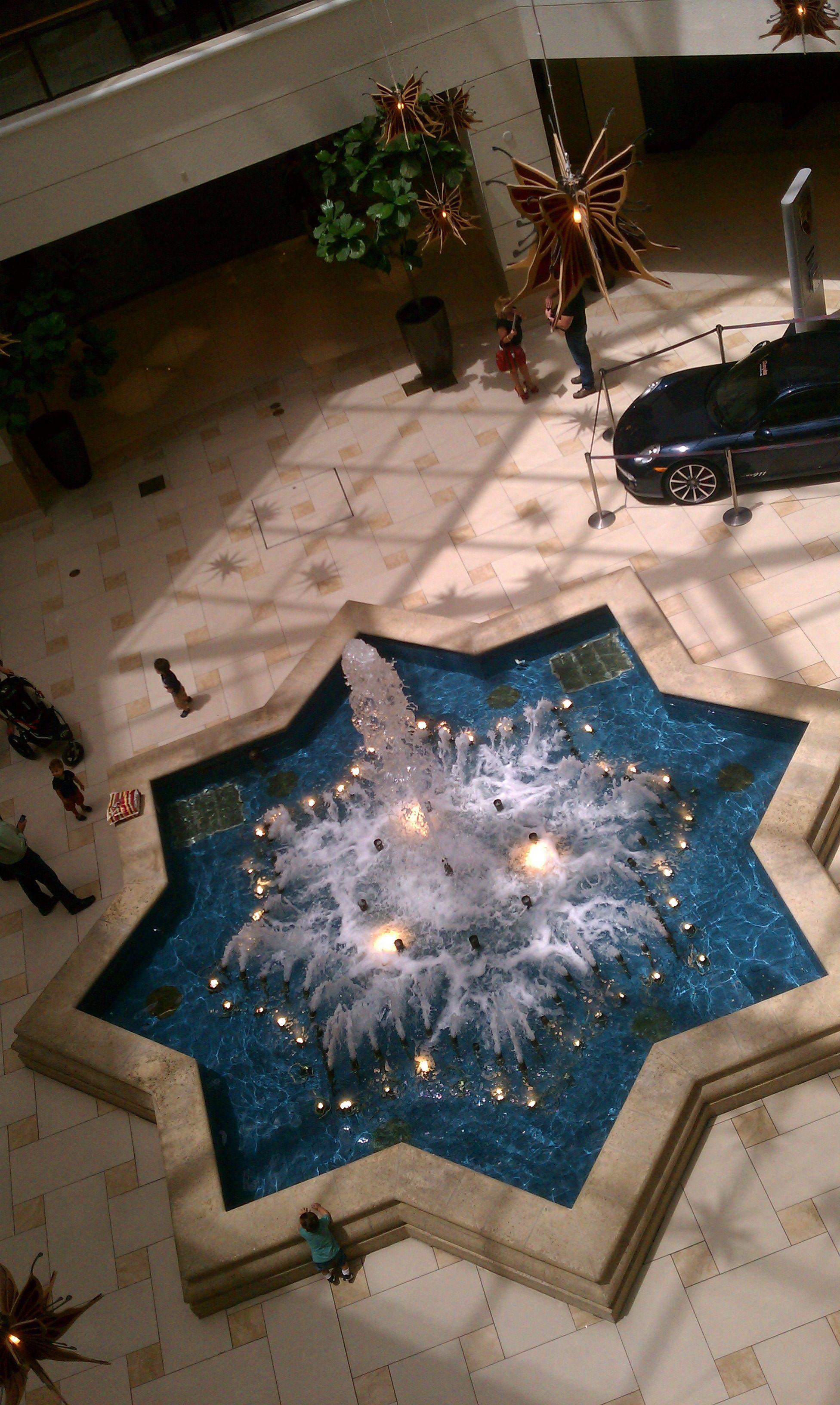 #Decorative #water #fountain Inside #Aventura #Mall #Miami #Florida
