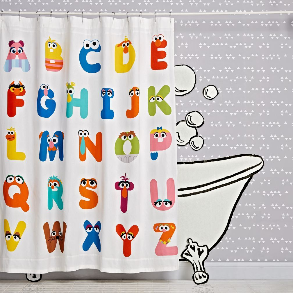 Shop Sesame Street Abc Shower Curtain With Our Abc Sesame Street
