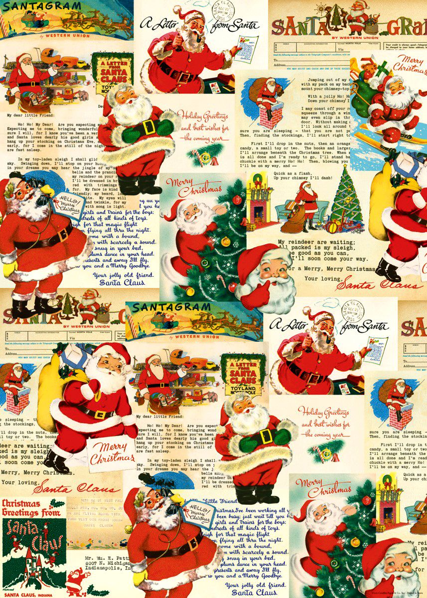 Vintage Christmas Wrapping Paper - Nonna\'s Baby • The CUTEST baby ...