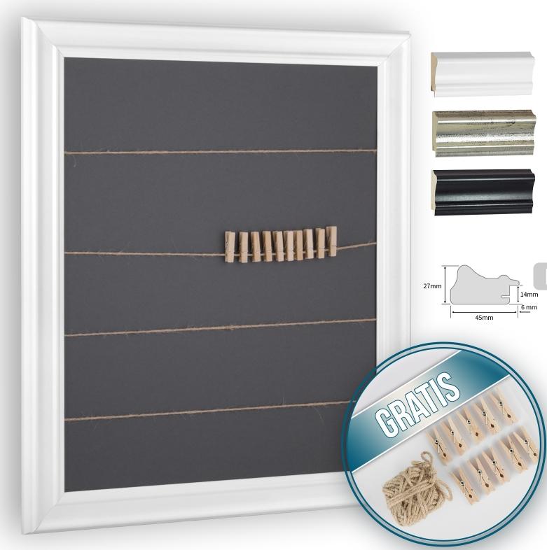 der rahmen mit schnur und klammern setzt ihre fotos postkarten konzertkarten etc besonders in. Black Bedroom Furniture Sets. Home Design Ideas