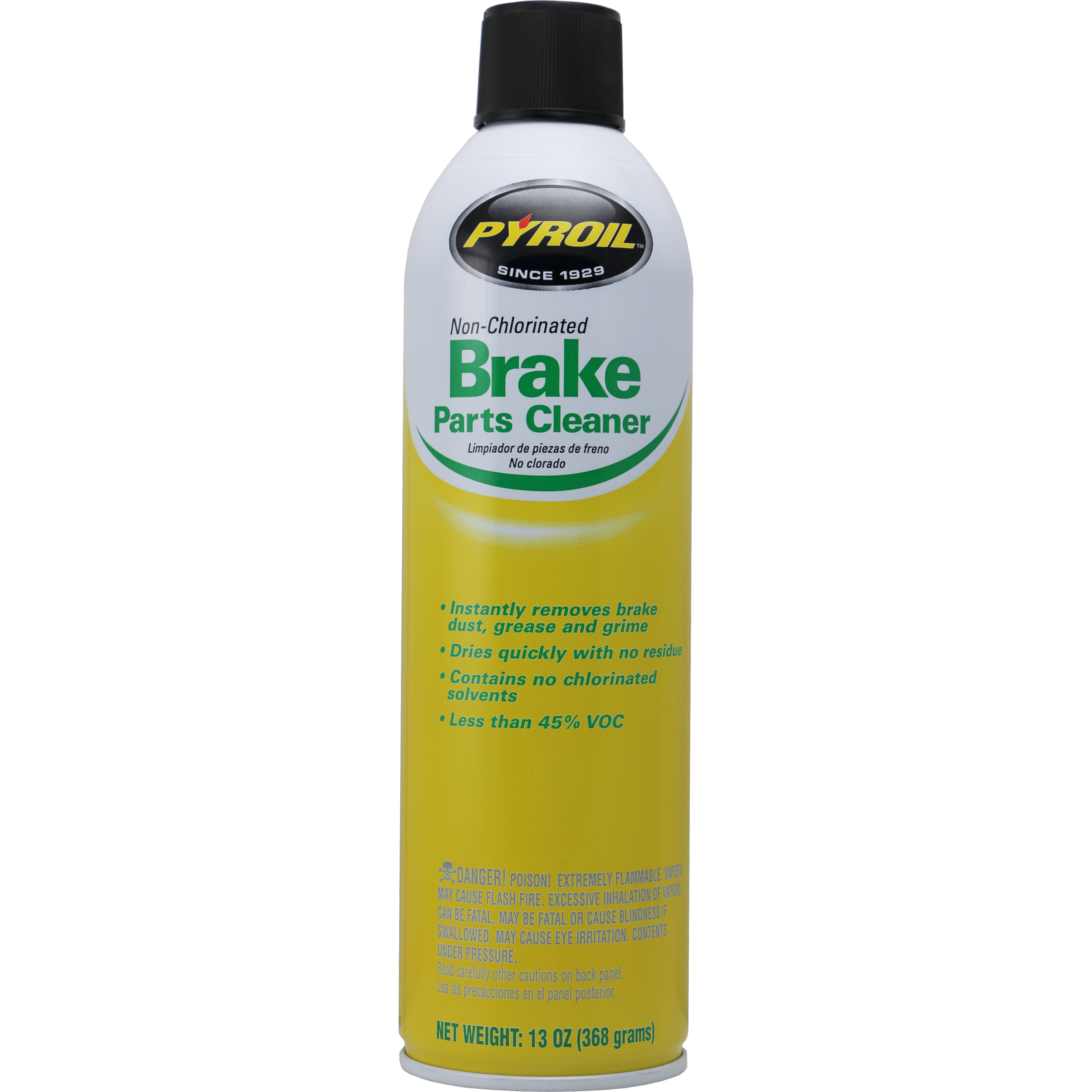 Pyroil NonChlorinated Low VOC Brake Parts Cleaner Brake