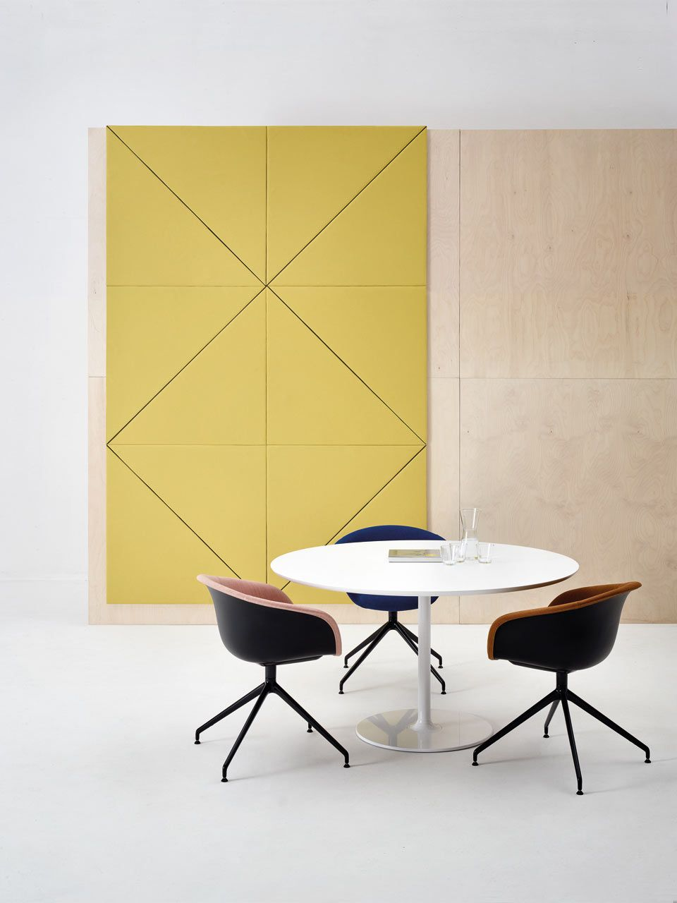 Geometric Acoustic Wall Panels by Arper | Pinterest | Acoustic wall ...