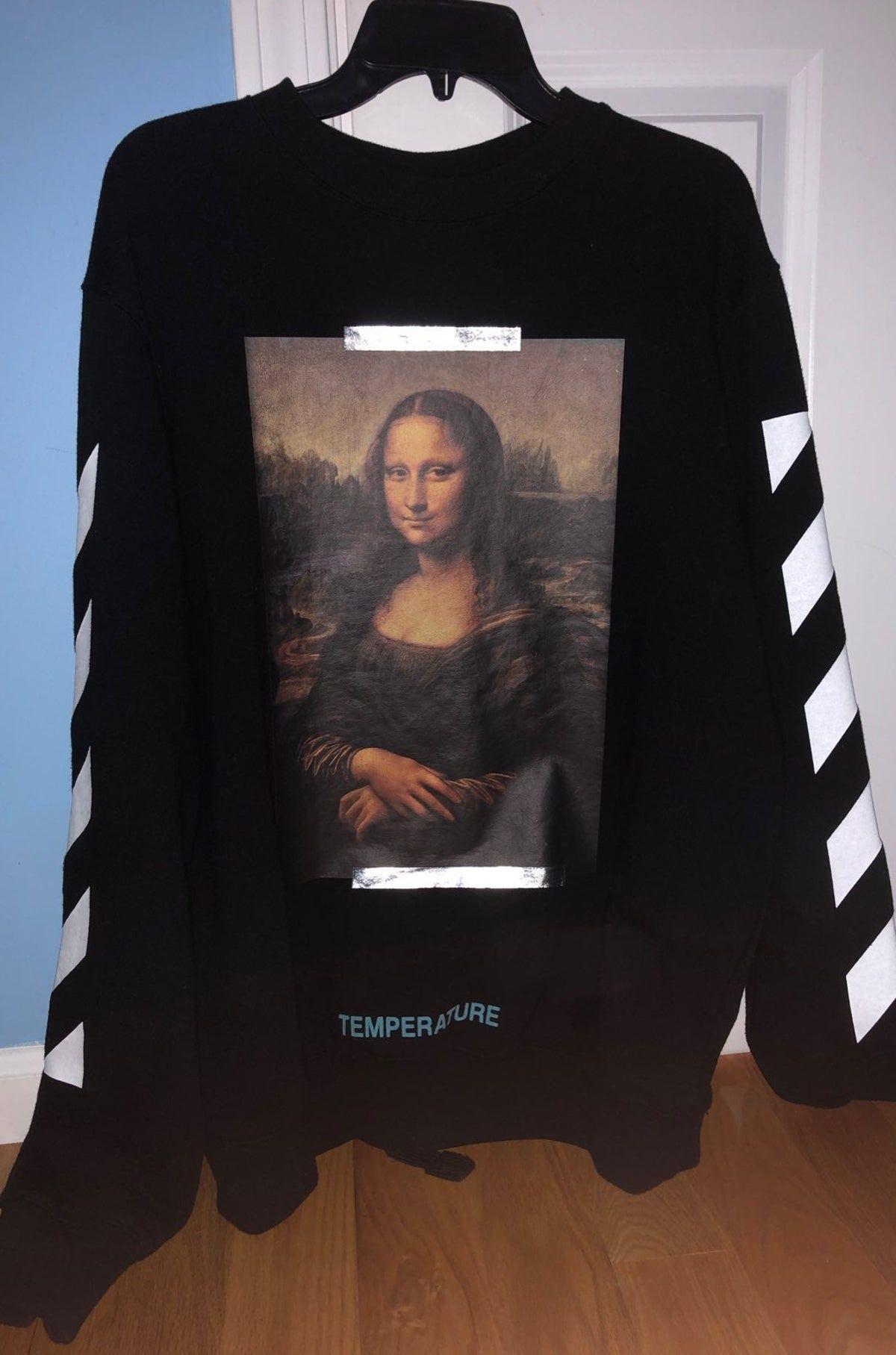 Off White Mona Lisa Crewneck Off White Sweatshirt White Crewneck White Crew Neck [ 1815 x 1200 Pixel ]