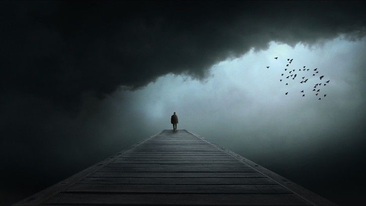 Sadness Alone In The Dark Dark Wallpaper Background Sad man wallpaper hd download