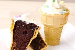 Bake cupcakes directly in ice-cream cones, so much more fun and easier to eat.