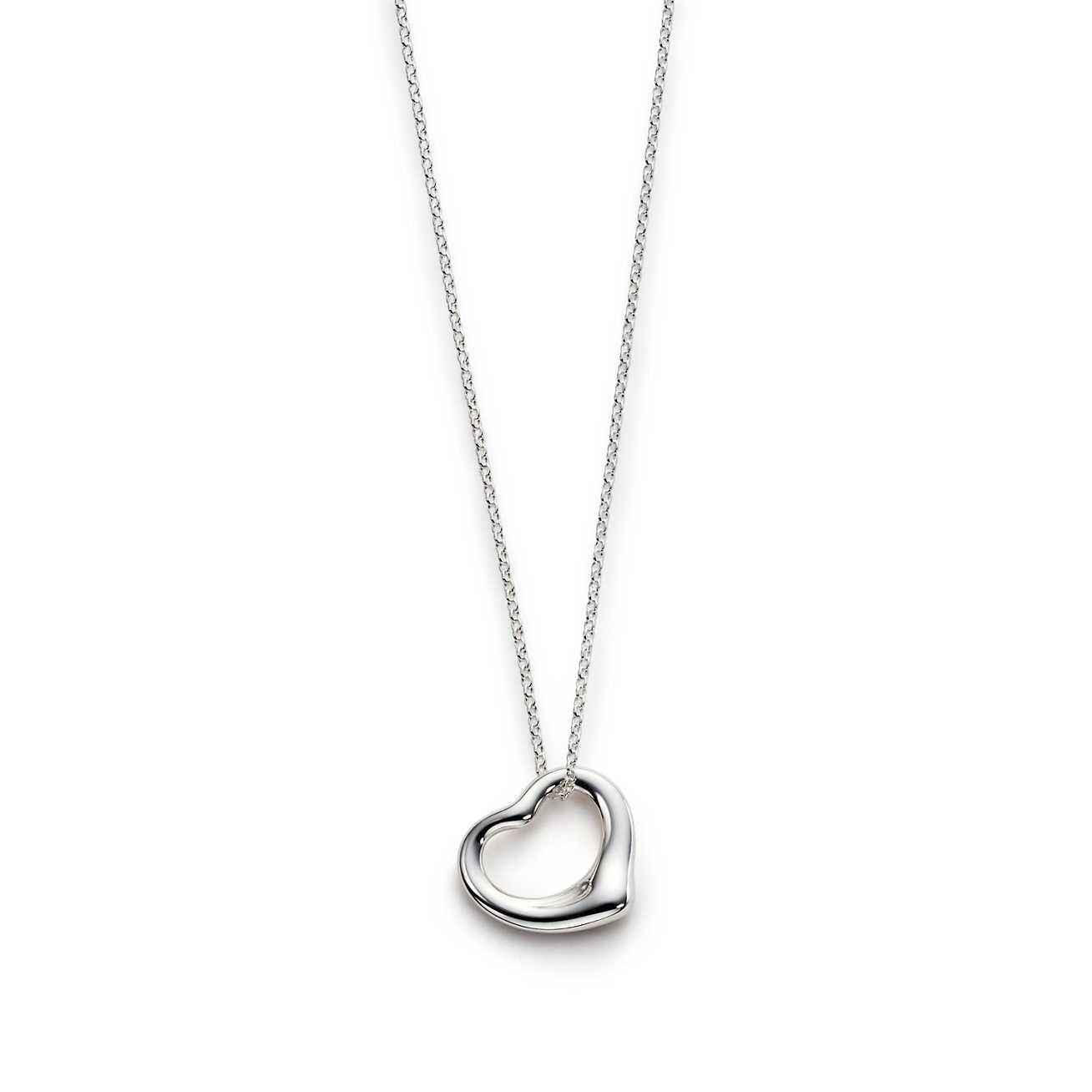 b3655ef5f2f1 Elsa Peretti® Open Heart pendant in sterling silver.