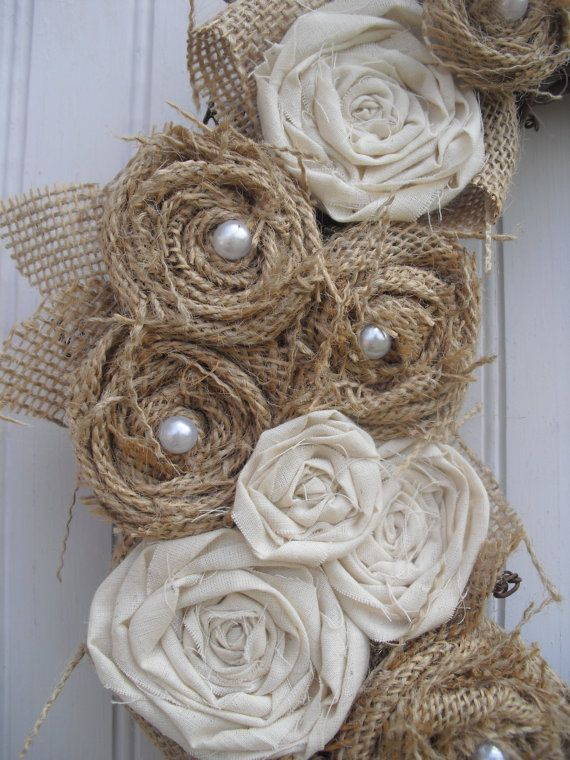 love these burlap  roses MontanaRosePainter