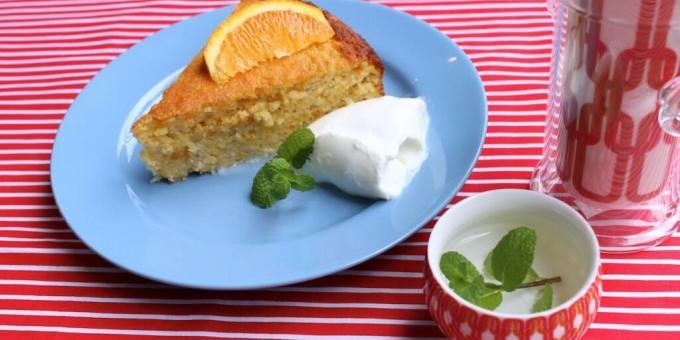 Orange and Chia Seed Cake - sugar free
