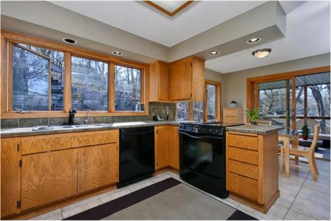 kitchen paint colors with golden oak cabinets | best family room
