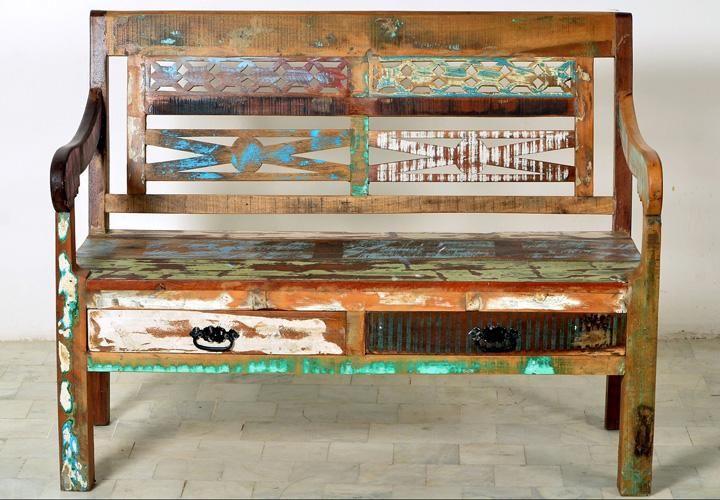 Bank RIVERBOAT echtes Altholz 120 cm lang | Einrichtungsideen ...