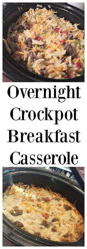 Overnight Crockpot Breakfast Casserole  Food
