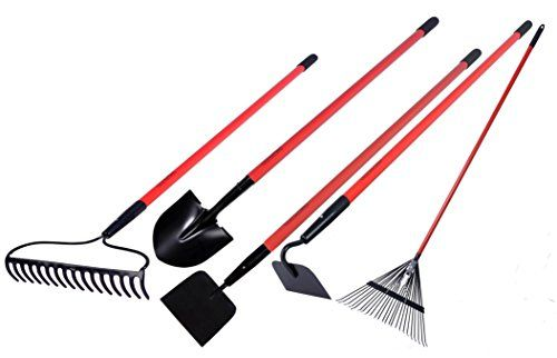 Garden All Garden Tools Kit Include Round Point Shovel Garden