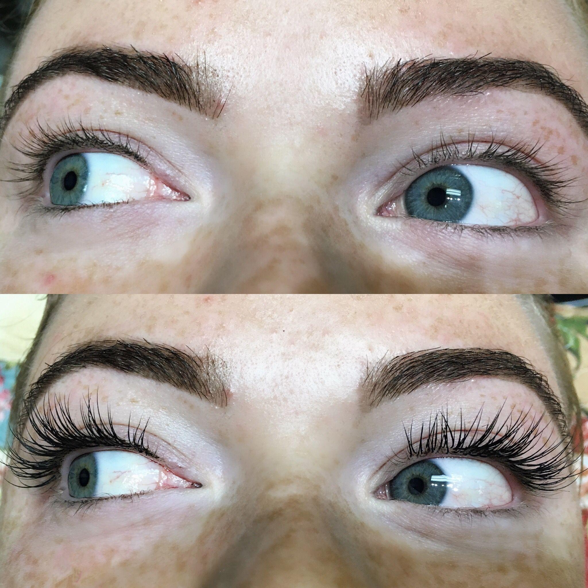 Before And After Eyelash Extensions Novalash Eyelash Extensions