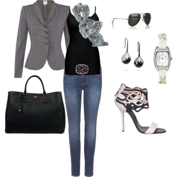 Work to Evening, created by kjwaltman on Polyvore