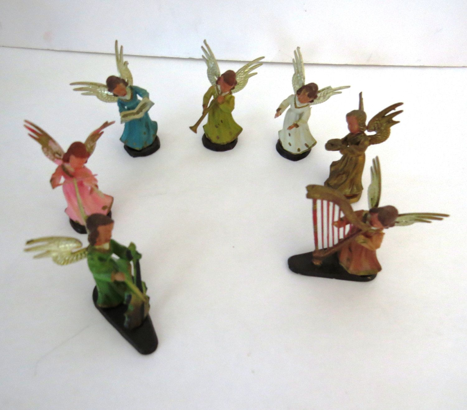 7 vintage collectible Angel decorations