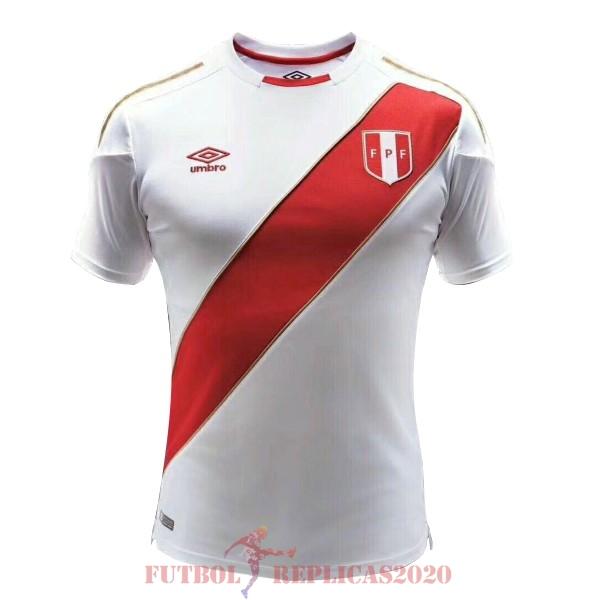 Camisetas De Futbol Imitacion 1ª Perú 2018 Blanco