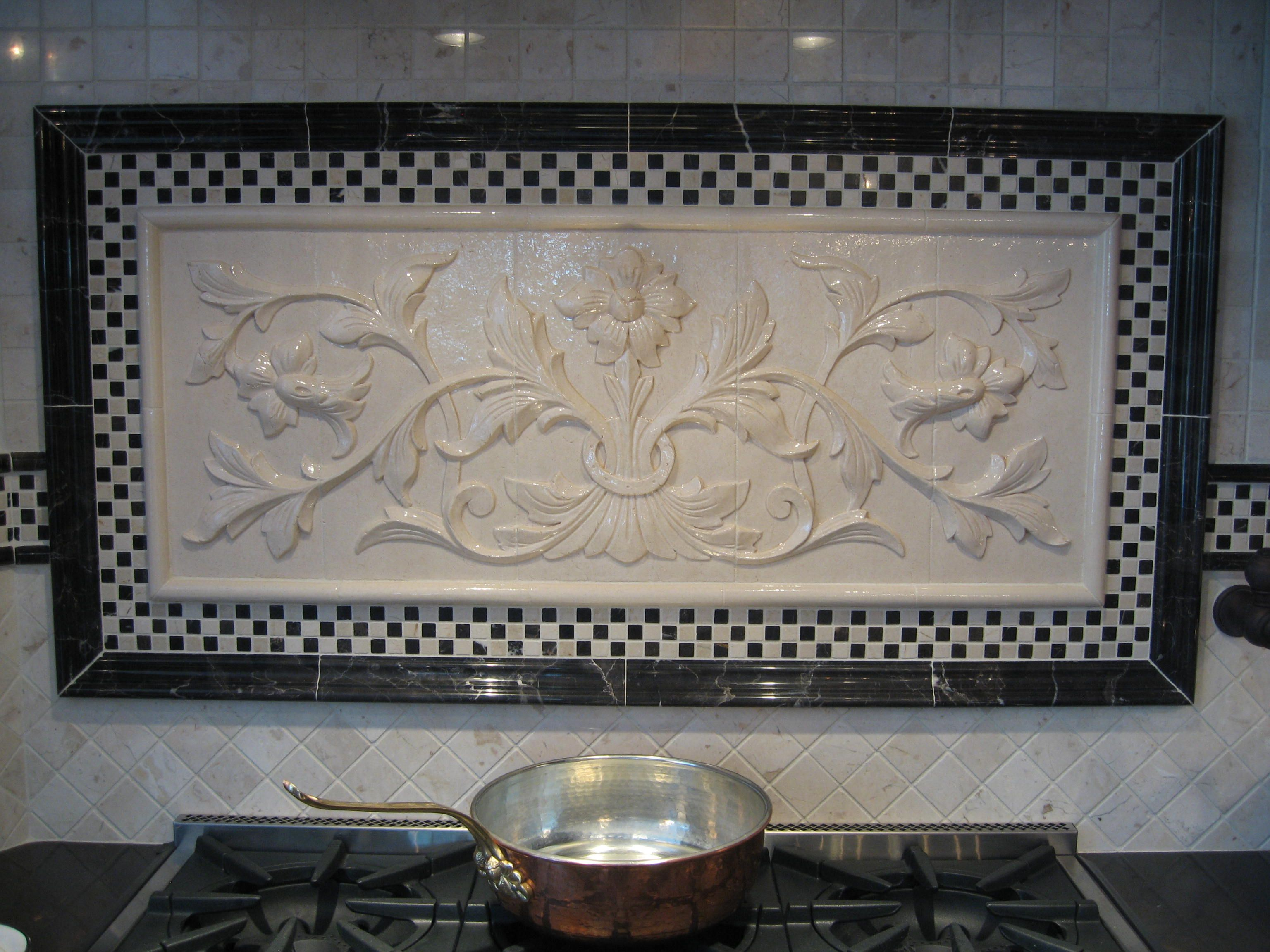 View A Gallery Of High Relief Tiles For Kitchen Bath Backsplash