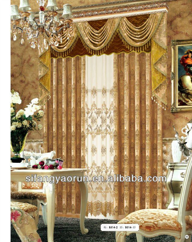 Fancy design bedroom curtain/fashion jacquard curtain valance $5.60 ...