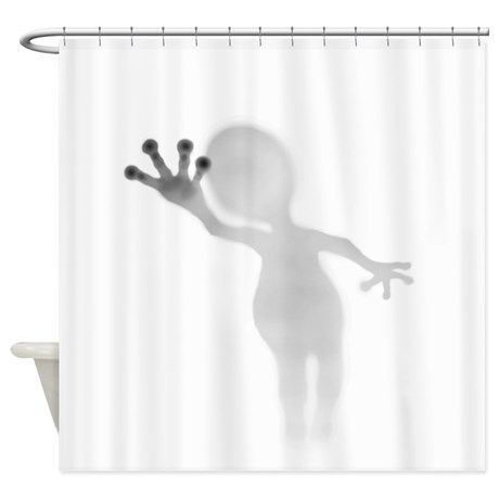 Alien In The Shower Shower Curtain 59 99 Funny Shower Curtains