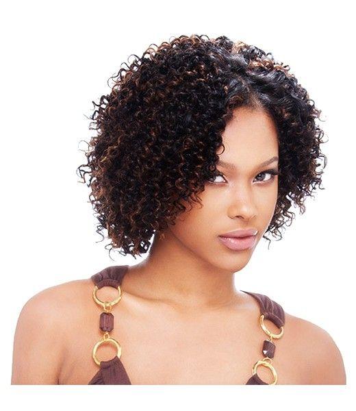 Milky Way 100 Human Hair Short Cut Jerry Curl 3pcs Mi Peinados