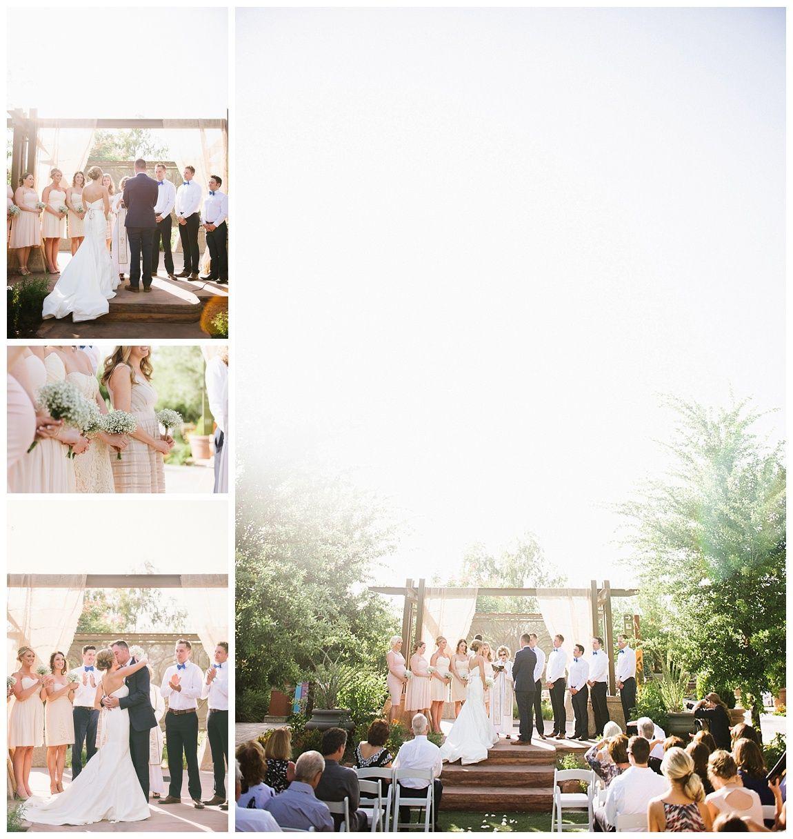 Las Vegas Wedding Planner Springs Preserve Arboretum Ceremony Mismatched Bridesmaid Dresses