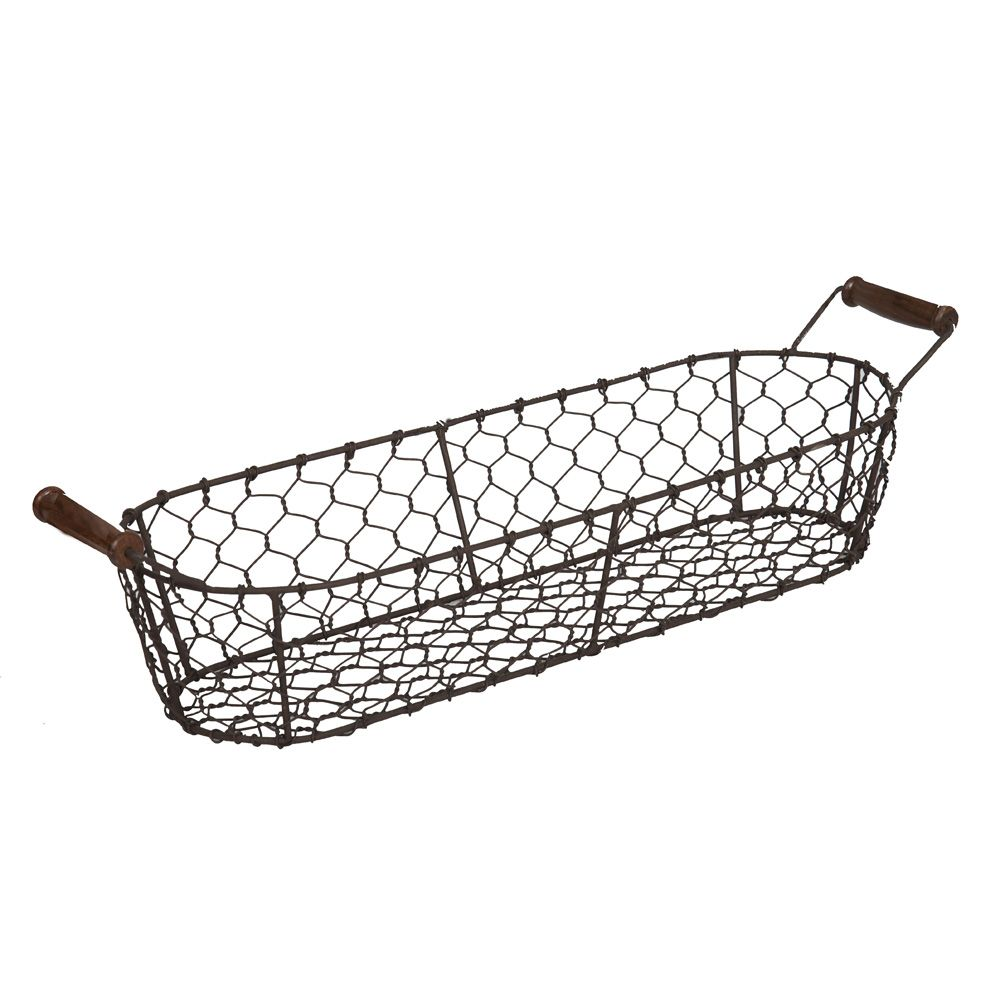 Rustic wire bread basket | Kitchen Essentials... | Pinterest ...