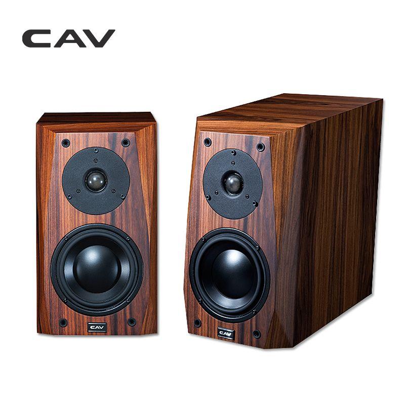 CAV FL-25 Wired Speaker Portable High end Bookshelf Wood Veneer Finished  Loud Home Speakers