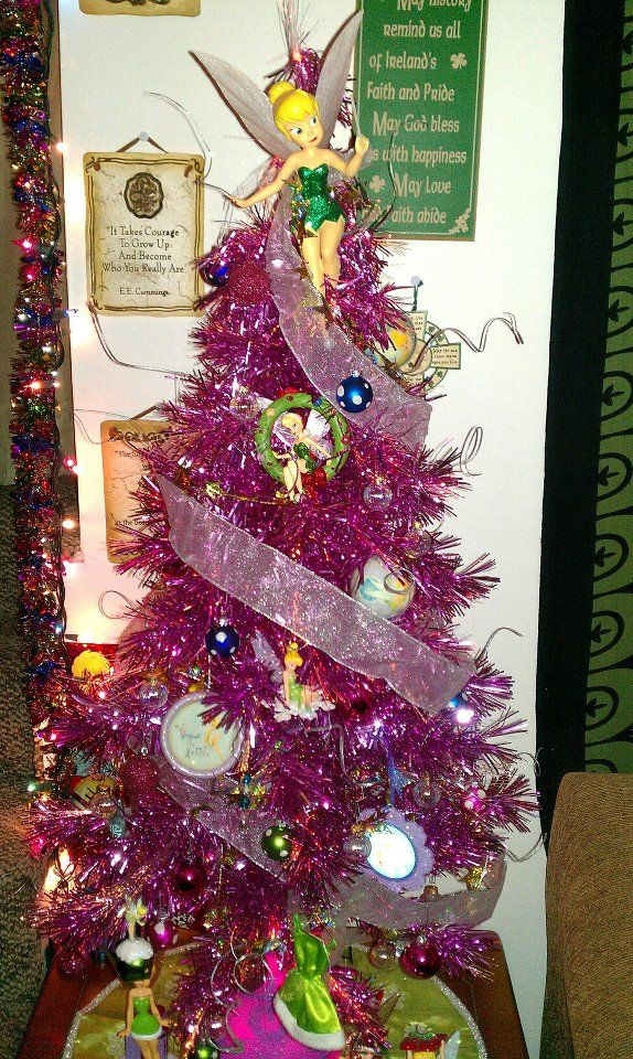 Tinkerbell Christmas Decorations Uk.My Tinkerbell Christmas Tree Full Of Tinkerbell Ornaments