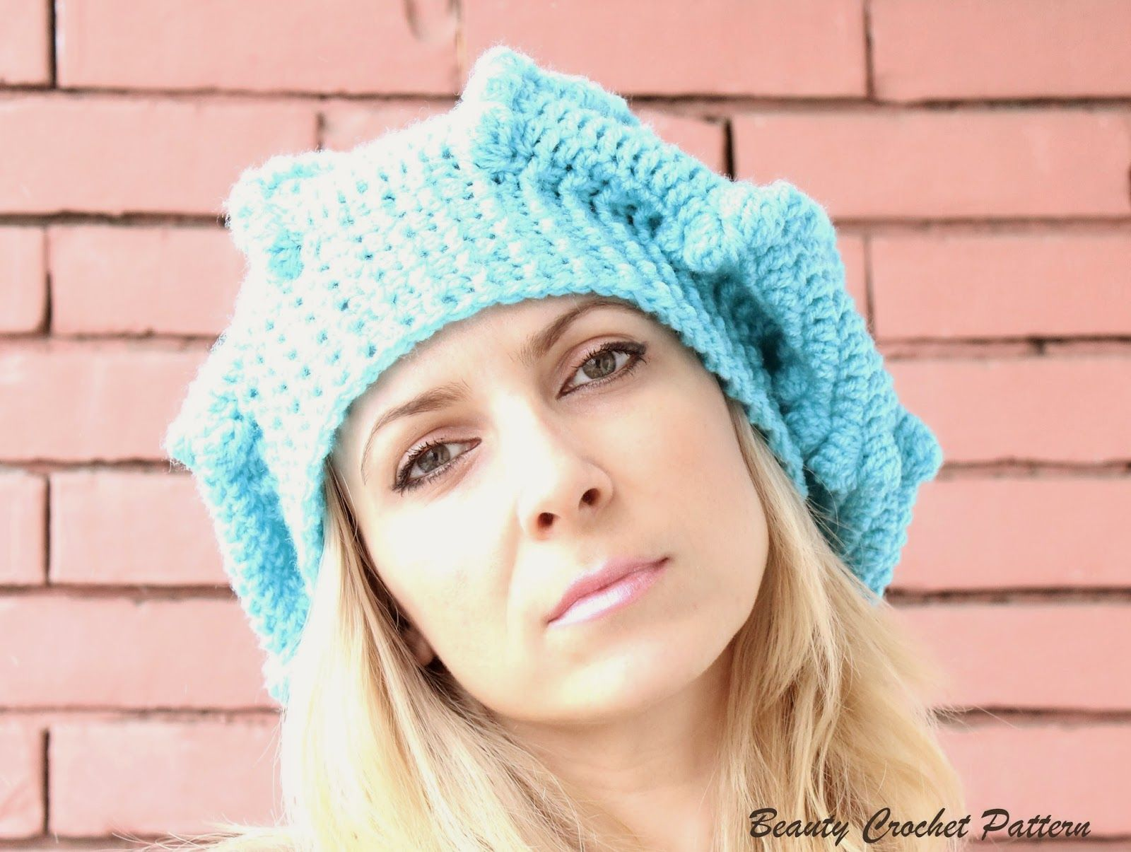 Crochet Slouch Bubble Beret Pattern | Crochet Hats | Pinterest ...