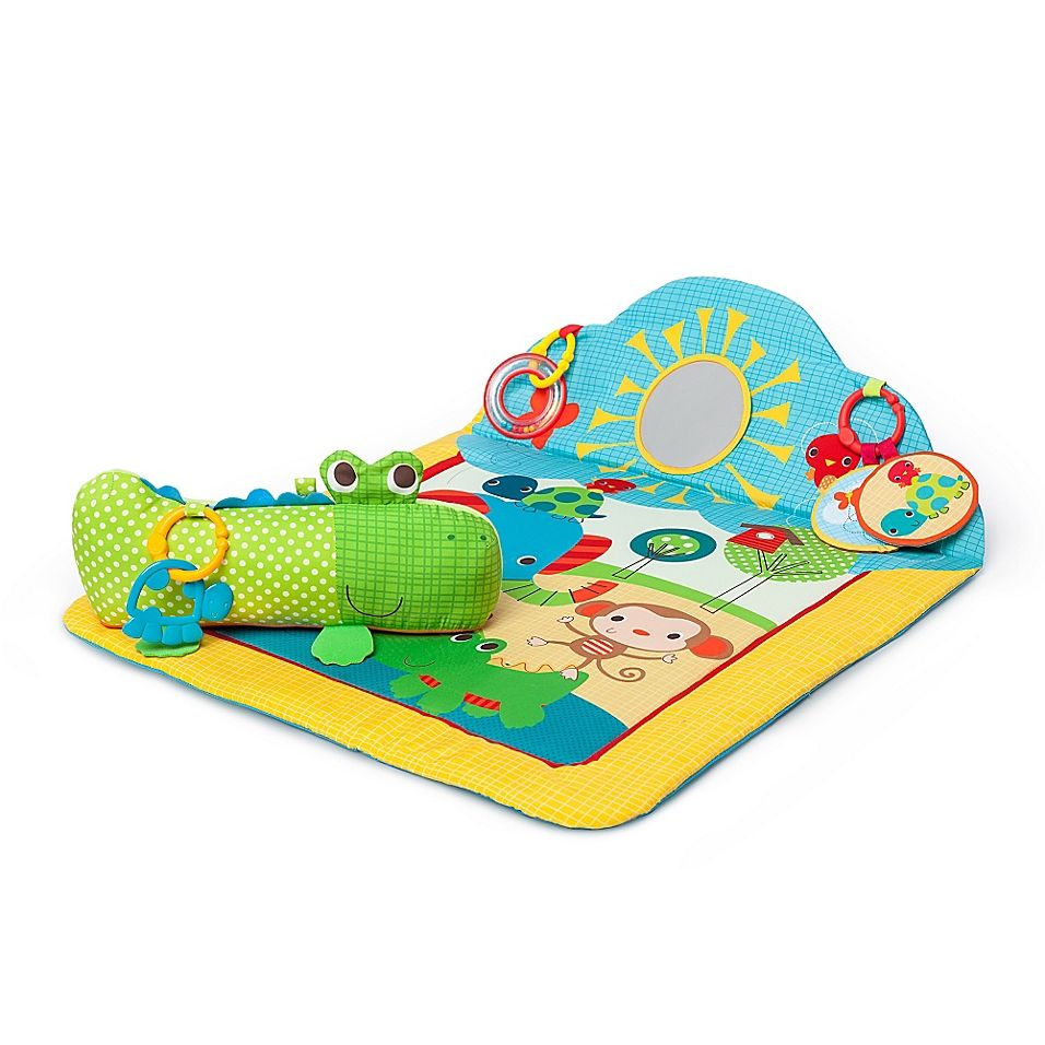 Bright Starts Cuddly Crocodile Play Mat Multi Tummy Time