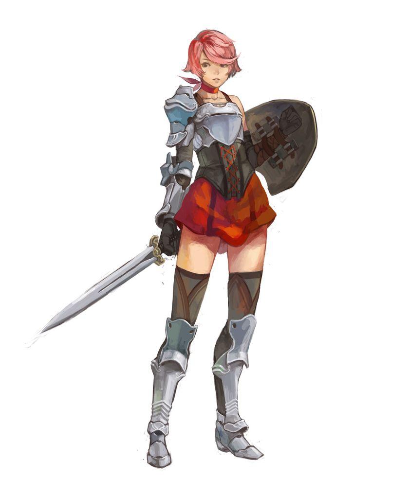 young warrior girl, adventurer