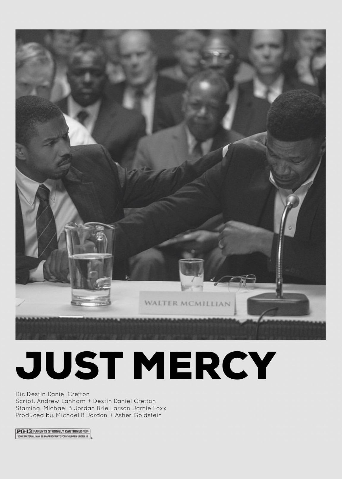 Just Mercy Minimalistic Movie Poster Movies Poster Movie Posters