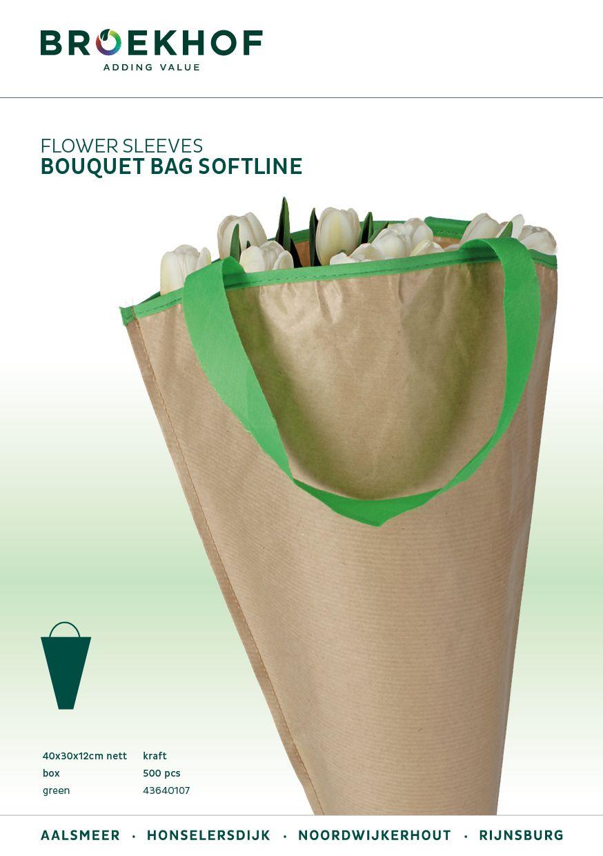 Bouquet Bag 40x30x12cm Nett Kraft Softline Green