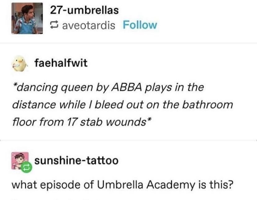 The Umbrella Academy Preferences Summer Days In 2020 Umbrella Academy Under My Umbrella